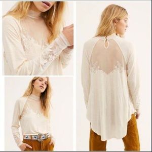 Free people lace tunic shirt